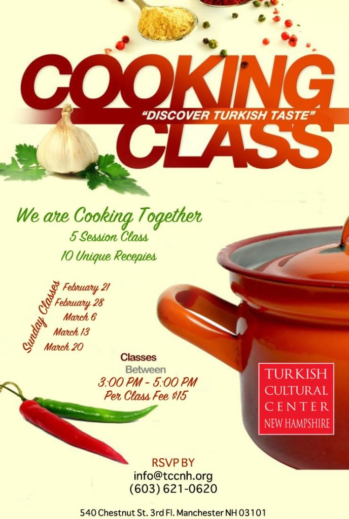 Cooking classes are starting at TCCNH | Turkish Cultural ...